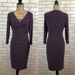 Lauren Ralph Lauren Stretchy Ruched Dress Size 8
